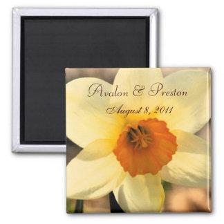 Reserva floral del narciso amarillo el imán de la