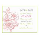 Reserva floral elegante la postal de la fecha