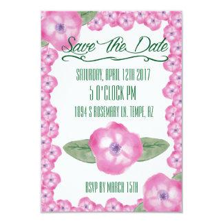 """Reserva floral la fecha invitación 3.5"""" x 5"""""""