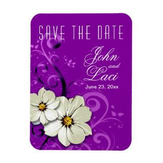 Reserva floral moderna de Curlicues la púrpura de Iman Rectangular