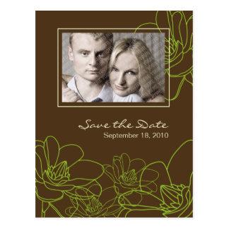 Reserva floral moderna del boda la postal de la fe