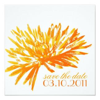Reserva floral moderna las tarjetas de fecha comunicados personalizados