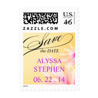 Reserva floral rosada amarilla la fecha
