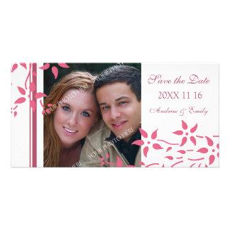 Reserva floral rosada las tarjetas de la foto del  tarjetas personales con fotos