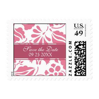 Reserva floral rosada los sellos del boda de la fe