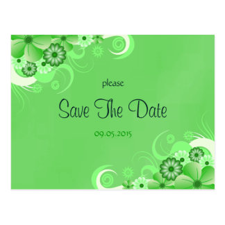 Reserva floral verde oscuro las tarjetas de la tarjeta postal
