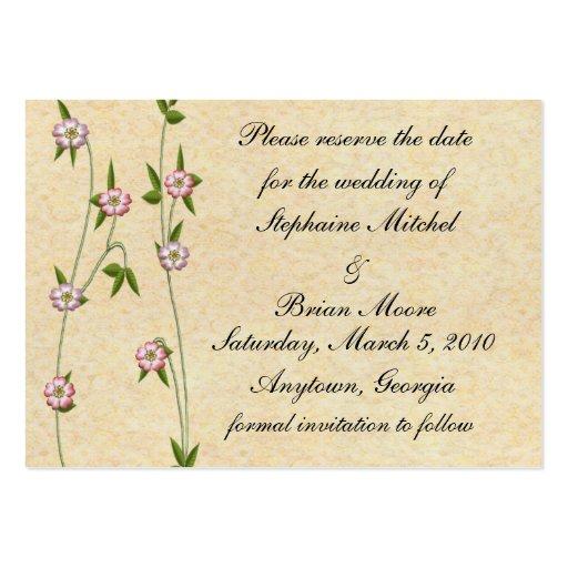 Reserva floreciente de la hiedra la fecha plantillas de tarjetas de visita