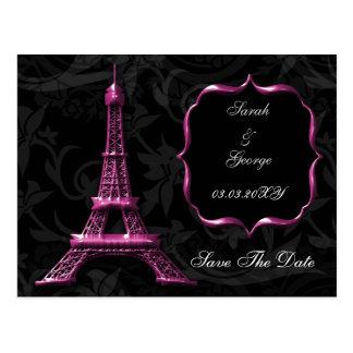 reserva francesa del boda de la torre Eiffel Tarjeta Postal