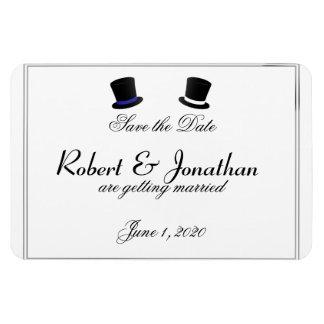 Reserva gay azul del boda de las pajaritas de los imanes rectangulares