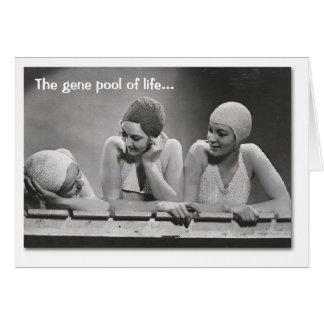 Reserva genética tarjeta de felicitación