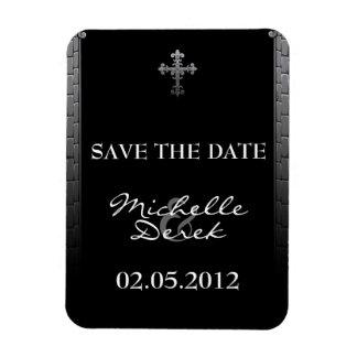 Reserva gótica del boda los imanes de la fecha