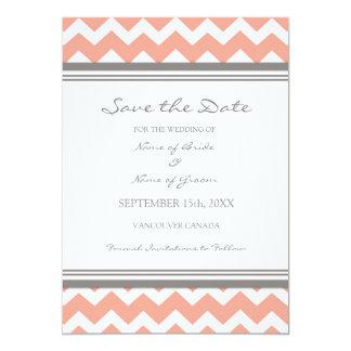Reserva gris coralina del boda de la foto de invitación 12,7 x 17,8 cm