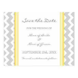 Reserva gris de Chevron las postales del boda de l