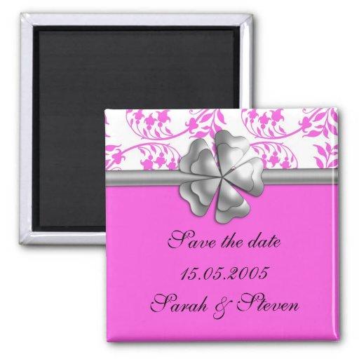 Reserva gris de la cinta del damasco rosado el imá