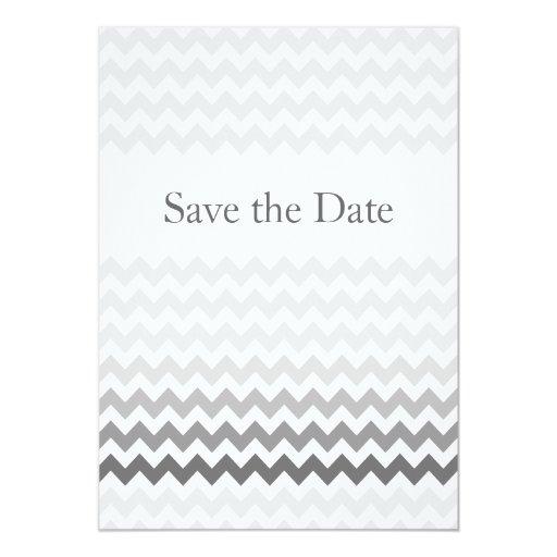 """Reserva gris del boda de Ombre del galón de la MOD Invitación 5"""" X 7"""""""