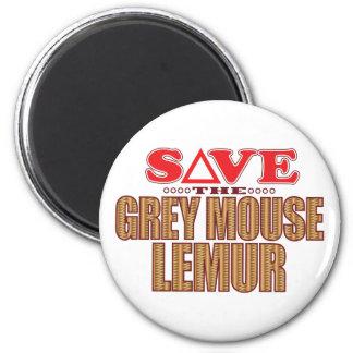 Reserva gris del Lemur del ratón Imán Redondo 5 Cm