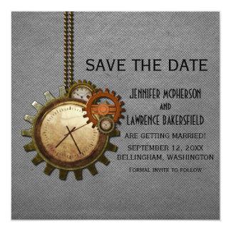 Reserva gris del reloj del vintage que la fecha comunicados