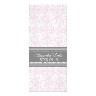 Reserva gris rosada del boda la tarjeta de fecha invitación 10,1 x 23,5 cm