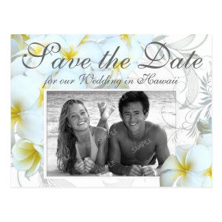 Reserva hawaiana del boda del destino las tarjetas tarjetas postales