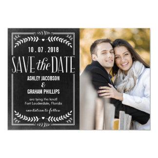 """Reserva hermosa del amor la tarjeta de fecha invitación 5"""" x 7"""""""