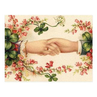 Reserva irlandesa romántica del boda las tarjetas postales