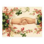 Reserva irlandesa romántica del boda las tarjetas  postal