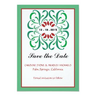 Reserva jubilosa la invitación de la fecha