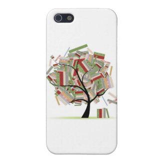Reserva la biblioteca en las ramas de árbol para s iPhone 5 fundas
