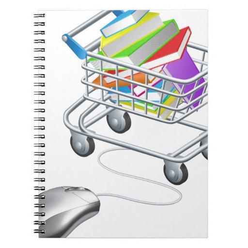 Reserva la carretilla del Internet del ratón Libros De Apuntes