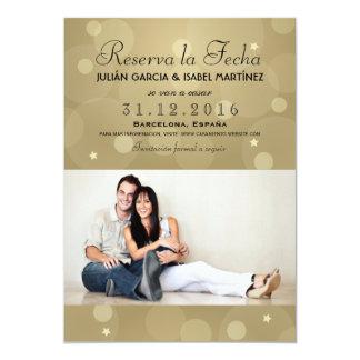 Reserva la Fecha Casamiento Anuncio Targeta Foto