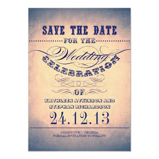 reserva lamentable de la tipografía del vintage el invitación
