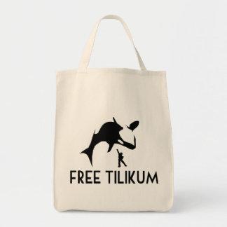 Reserva libre de Tilikum la orca de la orca Bolsa Tela Para La Compra