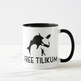Reserva libre de Tilikum la orca de la orca Taza