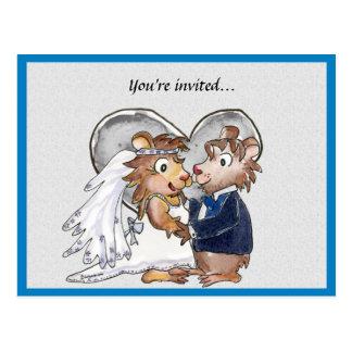 Reserva linda de la invitación del boda las postales