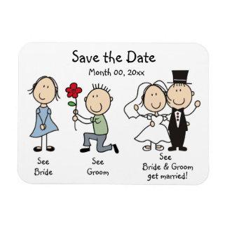 Reserva linda del boda los imanes de la fecha