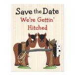 Reserva linda del caballo el aviso del boda de la  anuncios personalizados