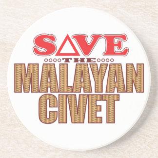 Reserva malaya de la civeta posavasos de arenisca
