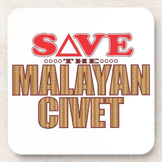 Reserva malaya de la civeta posavasos de bebidas
