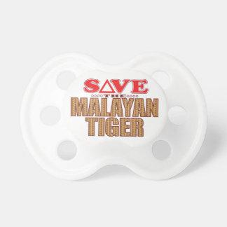 Reserva malaya del tigre chupete de bebe