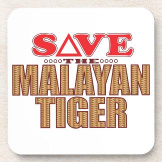 Reserva malaya del tigre posavasos