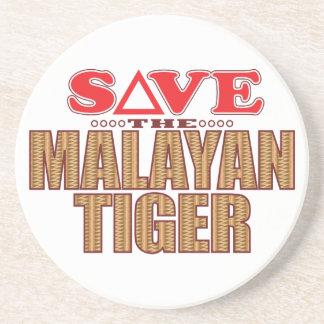 Reserva malaya del tigre posavasos diseño