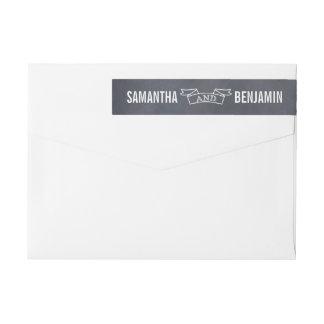 Reserva marcada con tiza del marco la etiqueta etiquetas postales