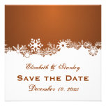 Reserva marrón del boda del invierno del copo de n invitaciones personales