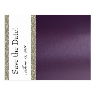 Reserva metálica y de plata púrpura la fecha tarjeta postal