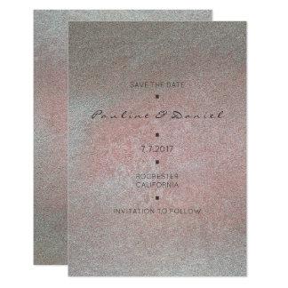 """Reserva mínima el rosa gris blanco del cemento de invitación 3.5"""" x 5"""""""