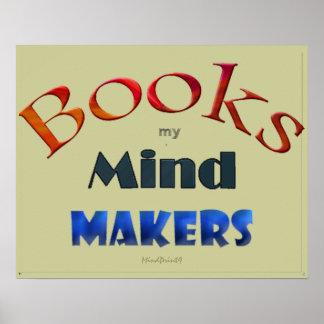 Reserva mis fabricantes de la mente póster