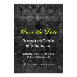 Reserva misteriosa del boda de Halloween la Invitación 8,9 X 12,7 Cm