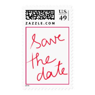 Reserva moderna del boda de la tipografía la fecha envio