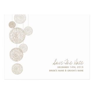 Reserva moderna del boda de los globos de la guita tarjetas postales