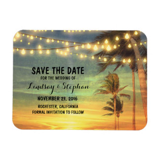 Reserva moderna del boda de playa la fecha imán de vinilo